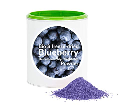 Heidelbeerpulver – Bio Heidelbeere gefriergetrocknet |Bio Organic| Freeze-Dried Blueberry| Good-superfruit von Good-Smoothie| 100% Frucht |ohne zusatzstoffe + viele Inhaltsstoffe| 120g