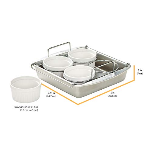 Chicago Metallic Professional Crème Brulee, 6 Piece Set, Stainless Steel