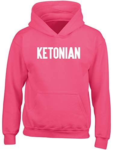 Hippowarehouse Ketonian Kids Children's Unisex Hoodie Hooded top Fuchsia Pink
