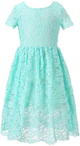 Happy Rose Flower Girl Lace Dress Country Dresses Junior Bridesmaid Mint 6 Years product image