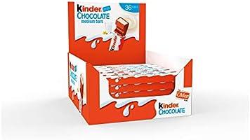 Kinder Chocolate Medium Bar, Box of 36 Bars