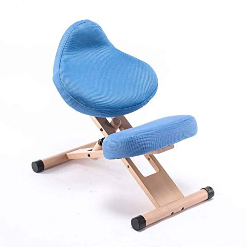 WANGLX Meditation Chair Knee Stool for Upright Posture, Ergonomic Kneeling Chair, Posture Corrective Chair, Adjustable Stool with Moulded Foam Cushion and for Home Office Relieving Back and Neck Pain
