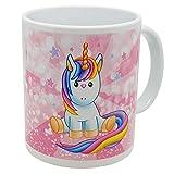 Kalféa - Taza de regalo con unicornio infantil sobre un arco cielo, cumpleaños, Navidad,...