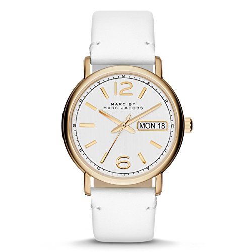 Marc By Marc Women's Fergus MBM8653 White Leather Quartz Watch