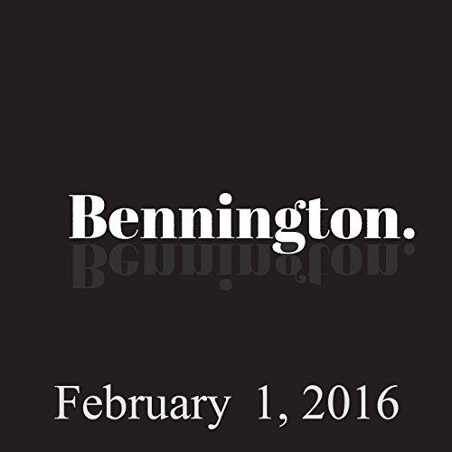 Bennington, February 1, 2016 audiobook cover art
