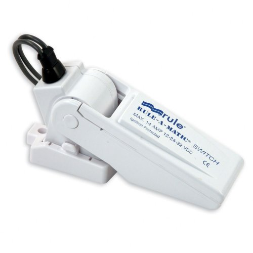 Rule 35A Rule-A-Matic Bilge Pump Float Switch, Mercury Free,White