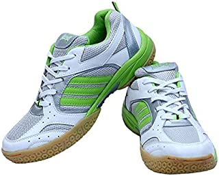 Firefly Speed Badminton White/Green Shoes with Non Marking Sole Soccer Performance Club Badminton/Tennis Indoor (Non Marking) Sole P.U Material Made