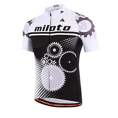 Uriah Men's Cycling Jersey Short Sleeve Reflective Running Gear Size 5XL(CN)