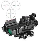 BIKEULTIMATE 4x32 Mira telescópica de 20 mm de Cola de Milano Reflex Óptica Ámbito Vista táctica para Arma de la Caza de Airsoft del Rifle de Francotirador Lupa
