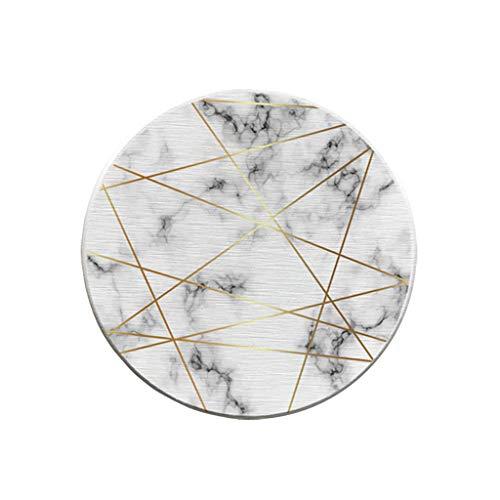aiyvi Marmor Untersetzer Diatomeen-Schlamm Feuchtigkeitsfestes Anti-Verbrühungs Isolier Saugfähiges Wärmeisoliert und rutschfest Cup Matte (T)