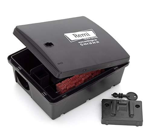 Pack de 2 Portacebos con Raticida | 2 Cajas para poner veneno de Rata y Ratón 【Incluye caja raticida】