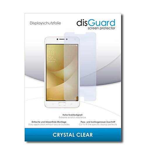disGuard Protector de Pantalla [Crystal Clear] compatibile con ASUS Zenfone 4 MAX Pro ZC554KL [2 Piezas] Cristal, Transparente, Invisible, Anti-Arañazos, Anti-Huella Dactilar - Película Protectora