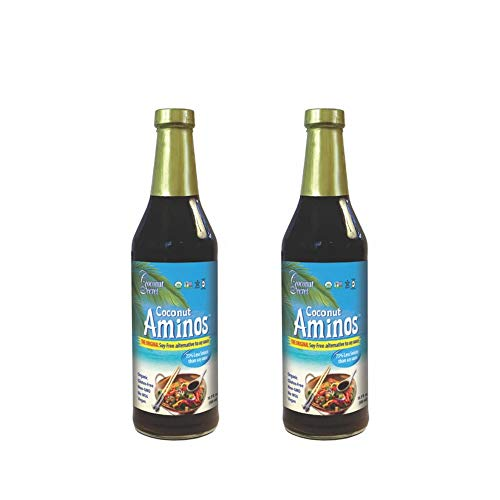 Coconut Secret Coconut Aminos (2 Pack) - 8 fl oz - Low Sodium Soy Sauce Alternative, Low-Glycemic - Organic, Vegan, Non-GMO, Gluten-Free, Kosher - Keto, Paleo - 96 Total Servings