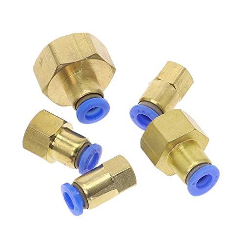 ZIJ Tubo de manguera de 10 mm, 12 mm, 8 mm, 6 mm, 1/8 pulgadas, 3/8 pulgadas, 1/2 pulgadas, BSP de 1/4 pulgadas, conector neumático de latón, rosca hembra (color: 3/8 pulgadas, tamaño: PCF 12 mm)