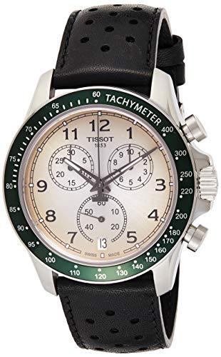 TISSOT Herren Chronograph Quarz Uhr mit Leder Armband T1064171603200