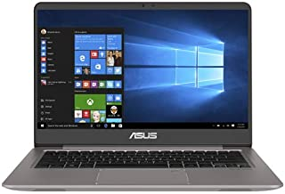 Asus ZenBook UX410UF-GV076T Laptop - Intel Core i7-8550U, 14-Inch FHD, 1TB + 512GB SSD, 16GB, 2GB VGA-MX130, Eng-Arb-KB, Windows 10, Quartz Grey