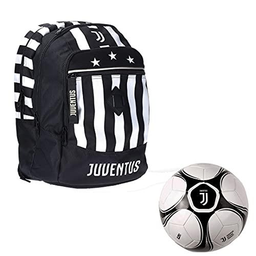 JUVE Juventus Zaino Advanced - Collezione Scuola 2021/2022-100% Originale - 100% Prodotto Ufficiale - con Pallone Omaggio