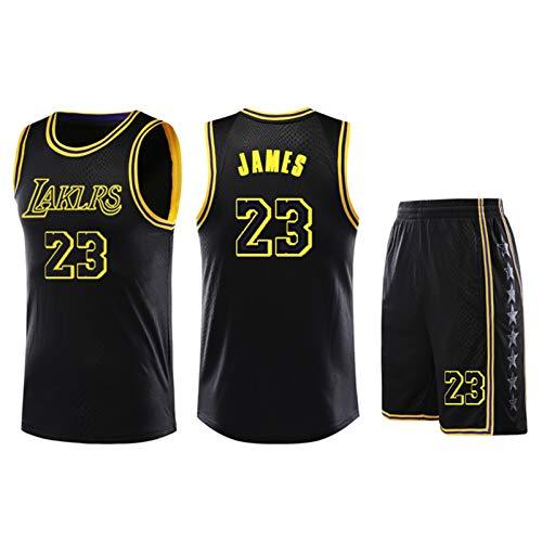 DIWEI Kobe Bryant # 24 Los Angeles Lakers # 23 James Adulta Camiseta De Baloncesto/Fans Niños Niñas Jerseys Niños Adolescentes Verano Camiseta Deportiva Chaleco + Shorts Black.j-XXL