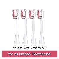zhixiang X Pro ELITE/X PRO / F1 / AIR 2/1つの4PCSの交換用ブラシヘッド電動歯ブラシの深いクリーニング歯のブラシヘッド (Color : 4Pcs P4 Brush heads)