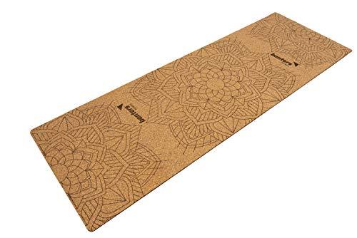 banters Yogamatte aus Kork & Naturkautschuk, Maße 183 x 61 x 0,5 cm