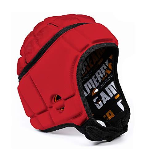 GameBreaker-Pro Multi-Sport Protective Headgear (Red,...