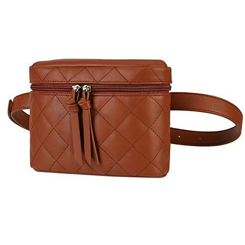 ECOSUSI Bauchtasche Gürteltasche Damen Mode Hüfttasche 2 in 1 Umhängetasche für Reise Wanderung und Alle Outdoor-aktivitäten, Braun
