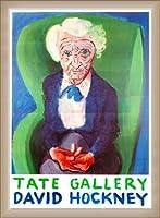 ポスター デビット ホックニー My Mother Bridlington 1988 額装品 ウッドベーシックフレーム(オフホワイト)