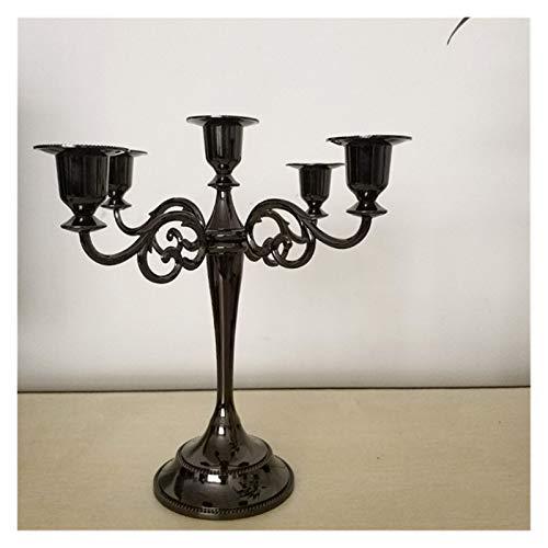 LANMEISM Sujetavelas 3/5 Cabezas Metal Pilar Candlehouse Candlestick Decoración de la Boda Soporte de la decoración del hogar de la Boda Candelabra (Couleur : 5 heise)