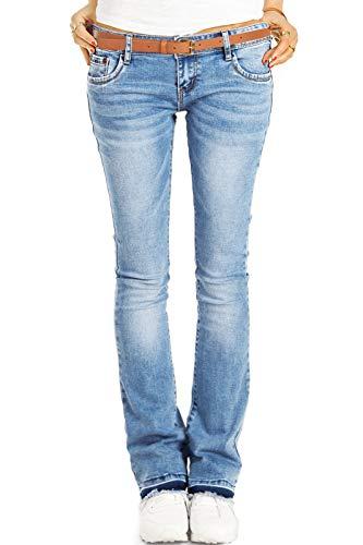 Be Styled Damen Bootcut Jeans Hüftjeans, Schlagjeans, Stretch Fit Passform j40g-2 42/XL sommerblau