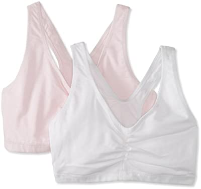 Hanes Women's Comfort-Blend Flex Fit Pullover Bra (Pack of 2),Pink Lilac/White,XXX-Large