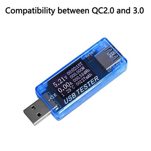NANUNU Tester Tester Cargador USB Power Meter Tester 4-30V 0-5A probador del Voltaje del multímetro USB Actual probador del Metro de USB