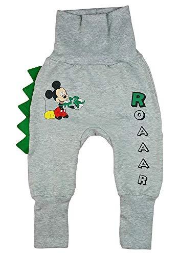 Junge Kinder Freizeit-Hose Harem-Hose Mitwachs-Spiel-Jogging-Hose Mickey Mouse Disney Baby in Größe 68 74 80 86 92 98 104 110 Baumwolle Warm mit Dino (Modell 3, 68/74)