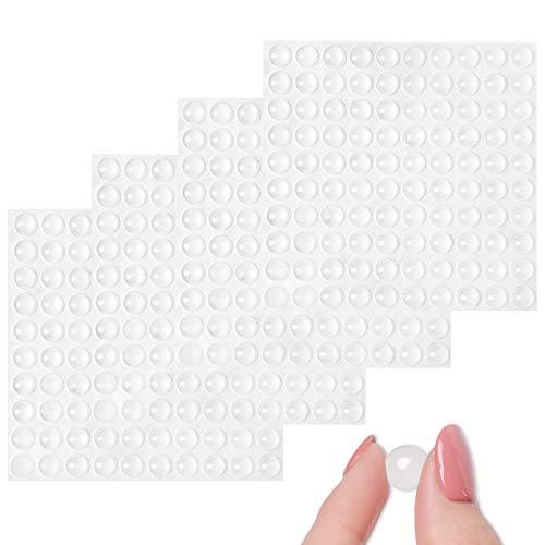Topes Adhesivos Transparentes, 400 Piezas Pies de Goma Transparentes, Reutilizable Material Nuevo, Lagrimas de Silicona, Gotas Silicona Adhesivas, Para Amortiguación de Ruido y Protector Antig