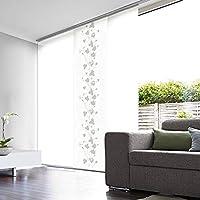 cortinas salon panel japones blanco