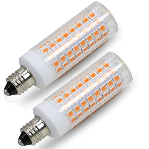[2-Pack] E11 led Bulb, 75W or 100W Equivalent Halogen Replacement Lights, Dimmable, Mini Candelabra Base, 850 Lumens Warm White 3000K, AC110V/120V, Replaces T4/T3 JD Type Clear e11 Light Bulb.