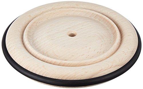 bachhuber-hobby Holzrad mit Gummireifen, 120mm Ø x 14mm, 6mm Bohrung, Set 4 Stück