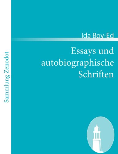 Essays und autobiographische Schriften (Sammlung Zenodot)