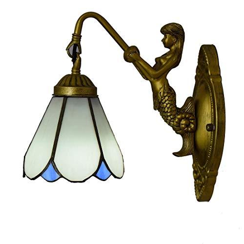 DALUXE Tiffany Crystal Lámpara de Pared 6 Pulgadas Británica Moderno Tiffany Lights de Pared Pintura de Vidrio Sala de Estar Salón Salón Bar Club Gang
