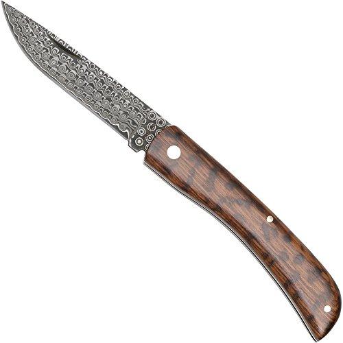 Haller Unisex– Erwachsene Damast-Taschenmesser Schlangenholz, braun, one Size