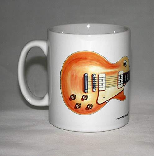 Gitarren-Tasse. Henry McCullough Gibson Les Paul Goldtop Gitarrenillustration