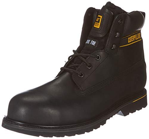 Cat Footwear Holton S3 HRO SRC, Botas de Trabajo Hombre, Black, 46 EU