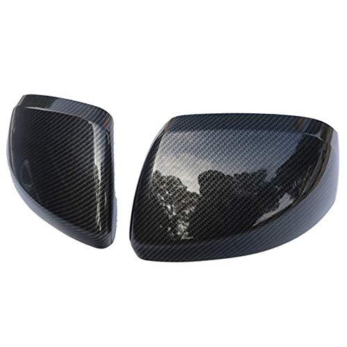 Ersatz Carbon-Faser-Farbe Tür Flügel-Spiegel-Abdeckung Rückansicht Overlay 2014-2018 for Mercedes Benz Vito Valente Metris W447 Autozubehör (Color : Black)