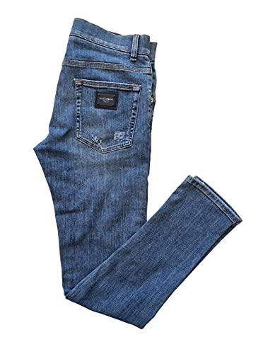 Dolce & Gabbana Jeans Pantalone Uomo GYYJLD G8CC0 S9001 Blu 34 UK 48 it