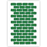 QBIX Plantilla de patrón de ladrillo – para pintar sobre madera, lienzo, papel, tela, piso, pared y azulejos – Plantillas reutilizables para manualidades (A4 (21 x 29,7 cm)