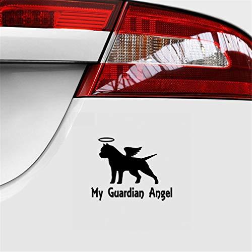 3d aufkleber auto 14,2X11,1 Cm Mein Schutzengel Pitbull Auto Aufkleber Pit Bull American Bully Hund Für Auto Laptop Fenster Aufkleber
