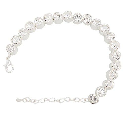 dailymall Braut Hochzeit Strass Kristall Armband Rom Armreif Armband Lady Geschenk