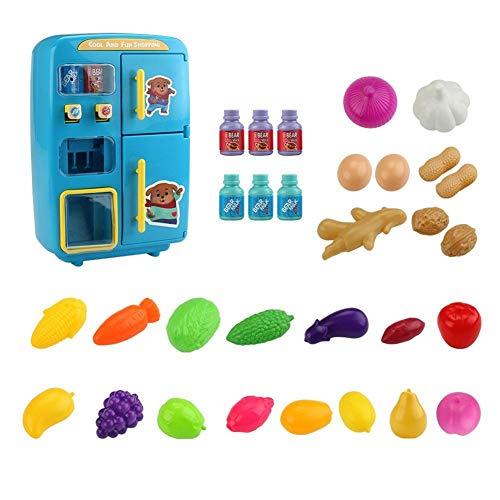 xiangpian183 Refrigerador de Juguete para niños Refrigerador eléctrico de Mini simulación de...