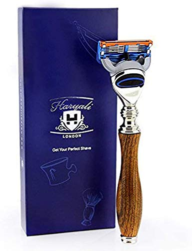 Price comparison product image Haryali London Mens Shaving Razor with Wood Handle Perfect Razor
