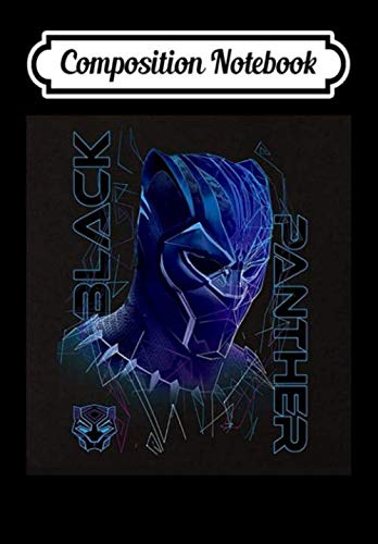 Composition Notebook: Marvel Black Panther Geo Tech Purple Ombre Portrait, Journal 6 x 9, 100 Page Blank Lined Paperback Journal/Notebook
