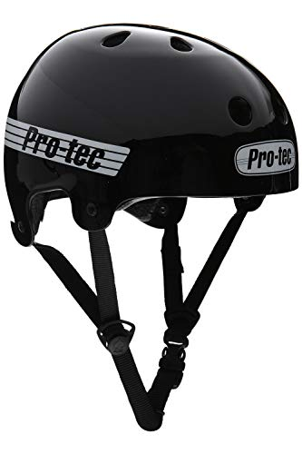 Pro-Tec Helmet Old School Cert Skateboard-Helm, Unisex, Schwarz (Gloss Black), M